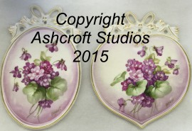 Double violet pair with bows