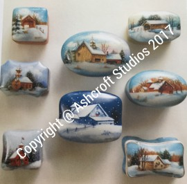 8 mini winter scenes