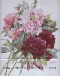 Peonies 11x14 or Vase