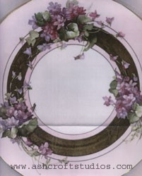 Double Violets and Gold Banded Plate (2)