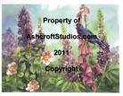 Blue Bird with Lupine and Foxglove