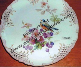 Bird with Wild Roses Plate