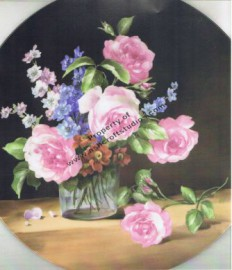 Still Life with Roses and Delphinium