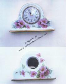 Wild Roses Clock