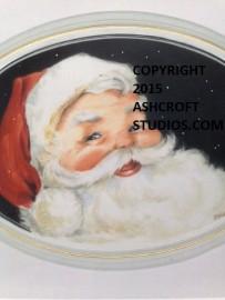 Santa with black background